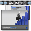 ID# 12154 Climbing And Falling From Success PowerPoint Template