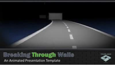 ID# 12344 - Breaking Through Walls - PowerPoint Template