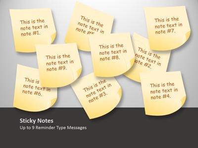 ID# 12548 - Sticky Note Tool Kit - PowerPoint Template