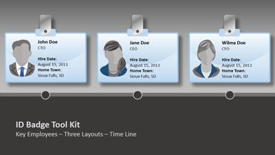 Id Badge Tool Kit A PowerPoint Template from PresenterMedia – Id Badge Template