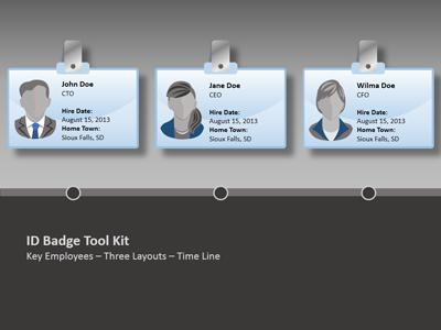 Id Badge Tool Kit  A Powerpoint Template From PresentermediaCom