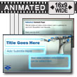 Robot Build Glass Inserts PowerPoint template
