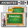 Educated Presenter PowerPoint template