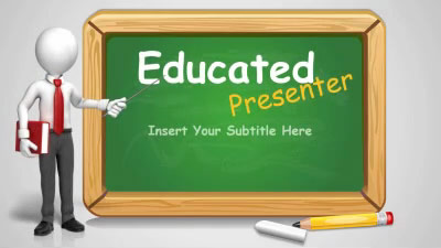 ID# 12624 - Educated Presenter - PowerPoint Template