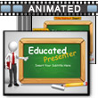 ID# 12631 Educated Presenter PowerPoint Template