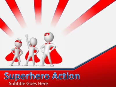superheroes powerpoint templates