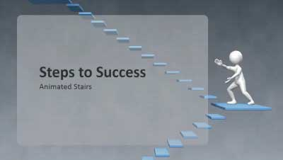 ID# 12750 - Steps To Success - PowerPoint Template