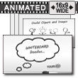 ID# 12804 - Whiteboard Doodles - PowerPoint Template