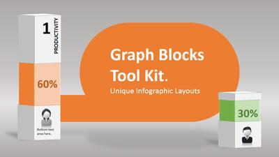ID# 12993 - Graph Blocks - PowerPoint Template