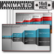 ID# 13046 - Four Box Comparison Reveal - PowerPoint Template