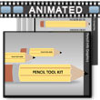 ID# 13137 Pencil Tool Kit PowerPoint Template