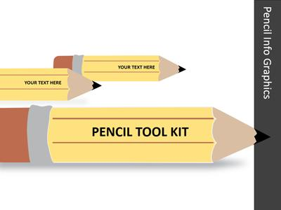 ID# 13137 - Pencil Tool Kit - PowerPoint Template