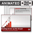 ID# 13169 - Figure Hauling Arrow Up Graph - PowerPoint Template