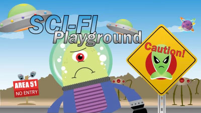 Sci fi playground a powerpoint template from presentermedia sci fi playground powerpoint template toneelgroepblik Image collections
