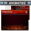 ID# 13389 Rolling Flames PowerPoint Template