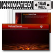 ID# 13426 - Rolling Flames - PowerPoint Template