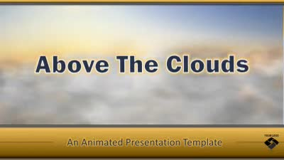 ID# 13766 - Flying Above the Clouds - PowerPoint Template