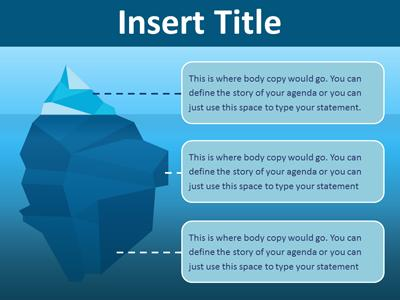 iceberg toolkit a powerpoint template from presentermedia com