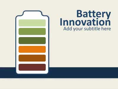 ID# 14059 - Battery Innovation - PowerPoint Template