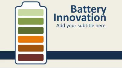 ID# 14144 - Battery Innovation - PowerPoint Template