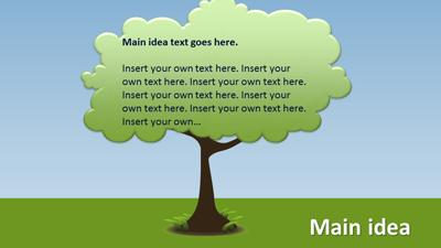 growing decision/idea tree & roots - a powerpoint template from, Modern powerpoint