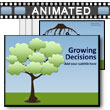 ID# 14185 Growing Decision/idea Tree & Roots PowerPoint Template