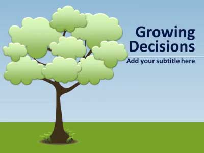 ID# 14185 - Growing Decision/idea Tree & Roots - PowerPoint Template
