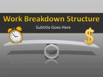 work breakdown structure chart - a powerpoint template from, Modern powerpoint