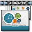 ID# 14644 Simple Icon Infographics PowerPoint Template