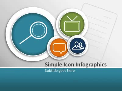 ID# 14644 - Simple Icon Infographics - PowerPoint Template