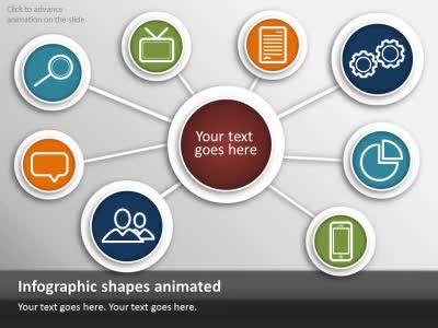 simple icon infographics - a powerpoint template from, Modern powerpoint
