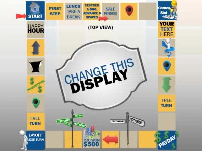 Board game display a powerpoint template from presentermedia home powerpoint templates toneelgroepblik Images