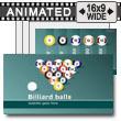 ID# 14779 - Billiard Balls - PowerPoint Template