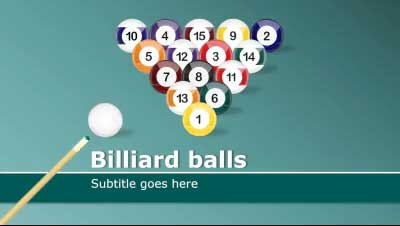 ID# 14779 - Billiard Balls - PowerPoint Template
