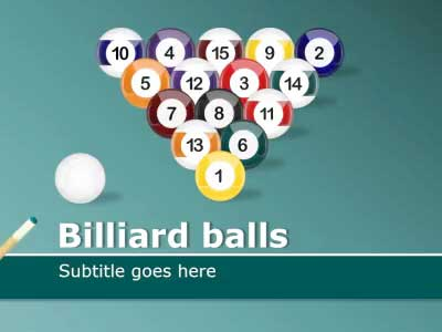 ID# 14781 - Billiard Balls - PowerPoint Template