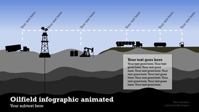 ID# 14793 - Oil Industry Infographic - PowerPoint Template