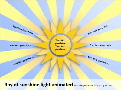 ID# 14904 - Ray of Sunshine - PowerPoint Template