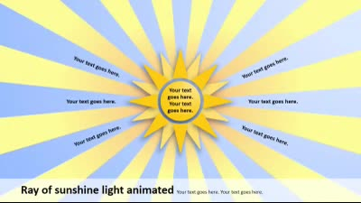 ID# 14905 - Ray of Sunshine - PowerPoint Template