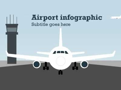 airport infographic - a powerpoint template from presentermedia, Modern powerpoint