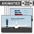 ID# 14940 - Airport Infographic - PowerPoint Template