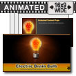 ID# 15077 - Electric Brain In Lightbulb - PowerPoint Template