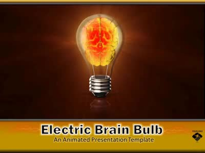 Electric brain in lightbulb a powerpoint template from electric brain in lightbulb powerpoint template toneelgroepblik Gallery
