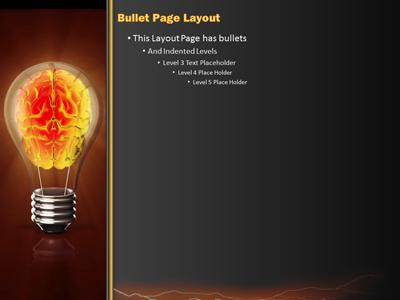 Electric Brain In Lightbulb PowerPoint Template