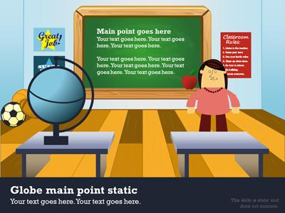 in the classroom - a powerpoint template from presentermedia, Modern powerpoint