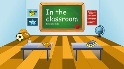 ID# 15151 - In The Classroom - PowerPoint Template