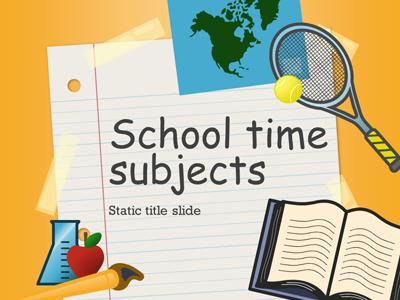 ID# 15195 - School Time Subjects - PowerPoint Template
