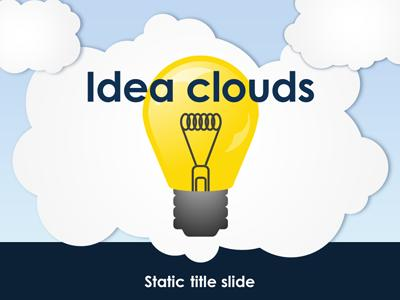 ID# 15259 - Idea Clouds - PowerPoint Template