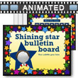 ID# 15344 Shining Star Bulletin Board PowerPoint Template