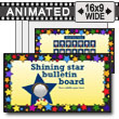 ID# 15346 - Shining Star Bulletin Board - PowerPoint Template