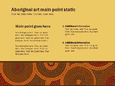 Aboriginal artwork a powerpoint template from presentermedia toneelgroepblik Image collections